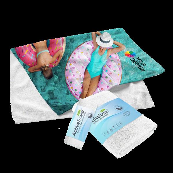 Aktive Towel bedruckt als Werbeartikel
