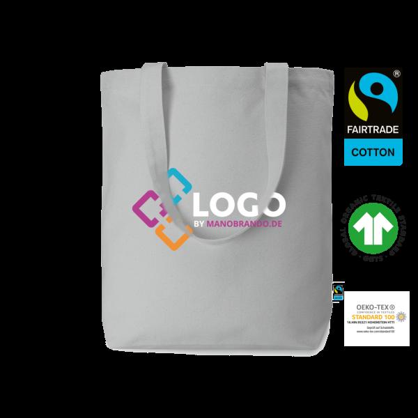 Bio-Fairtrade Baumwolltasche bedrucken als Werbeartikel