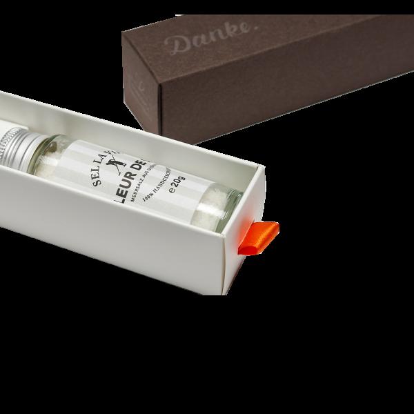 Dankebox Mini Fleur de Sel bedrucken | Werbeartikel