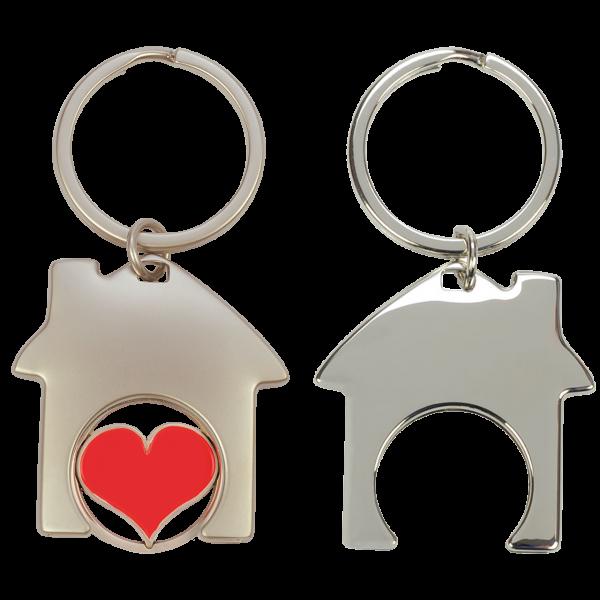 Schlüsselanhänger Einkaufswagenchips Haus