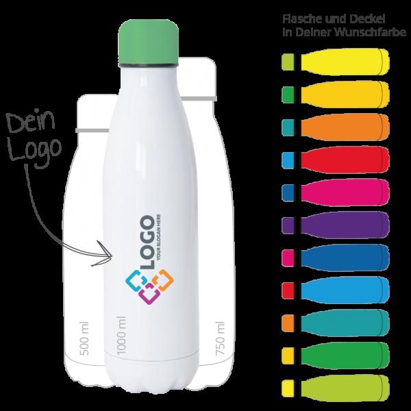 Isolierflaschen brdrucken Wunschfarbe