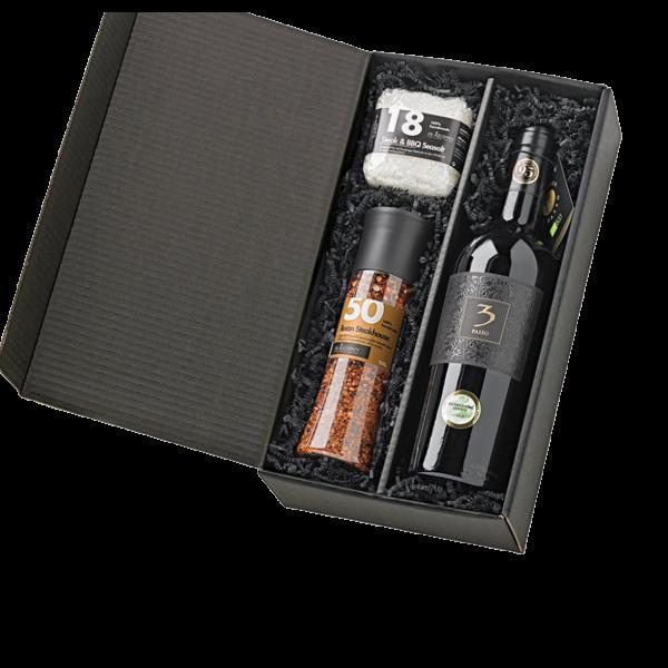 Grillfreund Grill Geschenk Box Wine´n´Dine - Präsentkorb