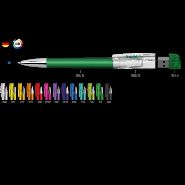 Klio Eterna Kugelschreiber Turnus mit USB Stick | Werbekugelschreiber